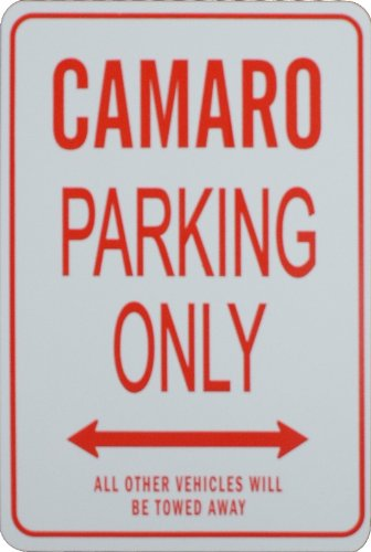CAMARO Parking Only Sign - Mini Signs ideal for the motoring enthusiast