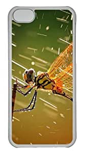 TYH - Dragonfly Custom iPhone 4/4s Case Cover Polycarbonate Transparent ending phone case