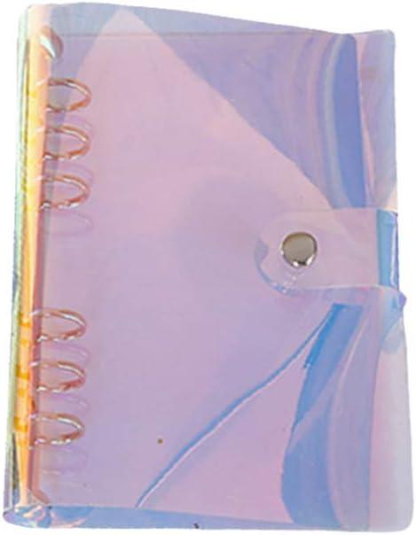 Transparent PVC Notebook Cover Loose Leaf Binder Journal Planner File Folder