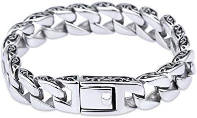 TAEONY Herren Titan Stahl Armband, Herren Essential Jewelry, Persönlichkeit Mode Retro Lace Totem Titan Stahl Herren Handschmuck