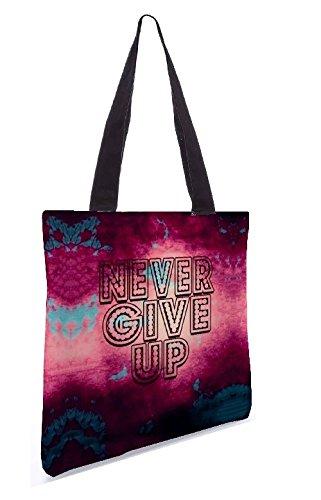 Snoogg Non Mollare Mai Shopping Bag 13,5 X 15 Pollici Realizzato In Tela Di Poliestere