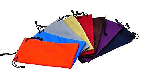 4 Pieces Eyewear Eyeglass Sunglasses Drawstring Cloth Bag Pouch Case(color by random)