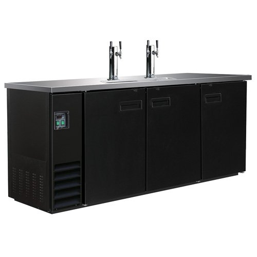 Central Exclusive Draft Beer Dispenser, Three Door, Two Double Head Taps (Draw Dispenser Keg 3 Direct)