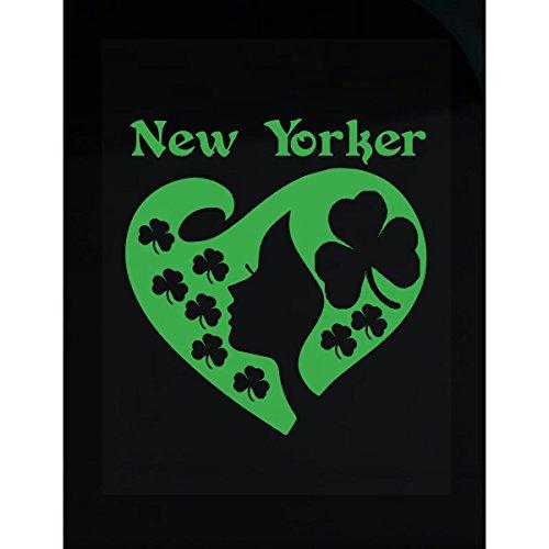 Yorker St Patrick Day Girl Heart Irish Green - Sticker