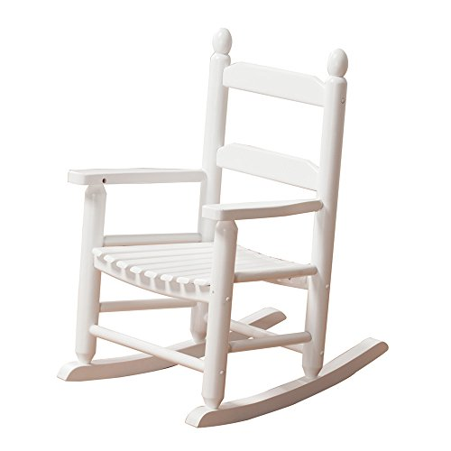 B&Z KD-20W Rocking Kid's Chair Wooden Child Toddler Patio Rocker Classic White