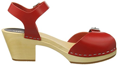 Swedish Hasbeens Pia High - Sandalias Mujer Rojo (Red)
