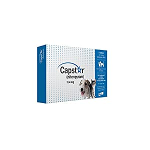 Novartis Capstar Flea Treatment Dog (Blue), 2-25 lbs, 6 tablets