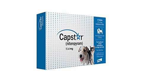 Capstar Fast-Acting Oral Flea Treatment for Small Dogs and Cats, 6 Doses, 11.4 mg (2-25 lbs)