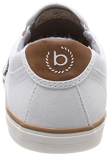 Bugatti White Slip 321502646900 On Weiß Sneaker Herren afrxwa