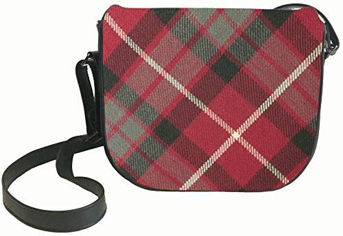 Back Leather Shoulder with Inside Fraser Bag and Handbag with Tartan Pocket Red 66vfOqr