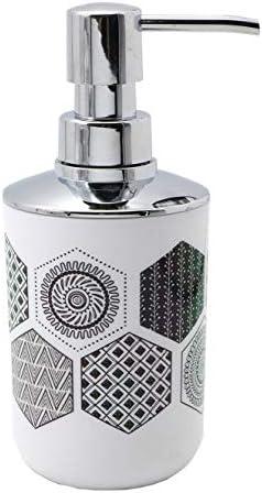 Dispenser Pattumiera Bicchiere Portasaponetta Portascopino BM 4024 Set di Accessori da Bagno Decorato 6 Pezzi Portaspazzolino
