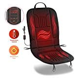 Zone Tech Car Heated Seat Cover Cushion Hot Warmer - 12V Heating Warmer Pad Cover Perfect for Cold Weather and Winter Driving