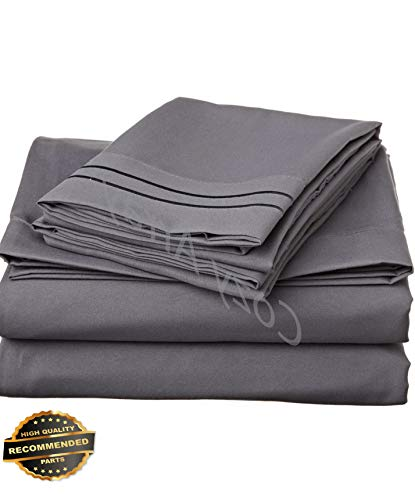 Werrox 1500 Thread Count 4 Piece Bed Sheet Set Twin Size | Quilt Style QLTR-291266335