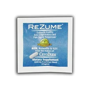 amazon com cryoderm rezume caplets dietary supplement 2 caplets