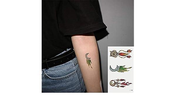 Oottati 2 Hojas Pequeño Lindo Tatuaje Temporal Tattoo Atrapasueños ...