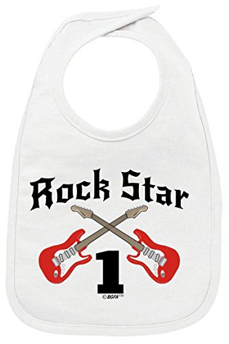 1st Birthday Outfit 1st Birthday Gift Rock Star Rock n Roll Baby Bib -