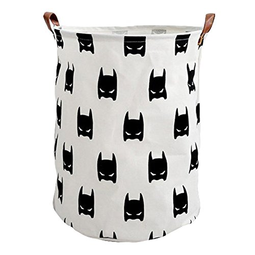 Collapsible Canvas Laundry Hamper PP Coating Cylindric Dirty Clothes Laundry Basket Toy Organizer Storage Bin by YAHUIPEIUS (8) by YAHUIPEIUS