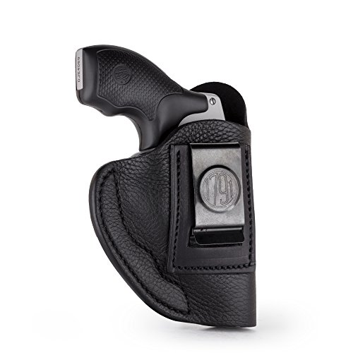 (1791 GUNLEATHER J Frame Premium Leather IWB CCW Holster - Soft & Comfortable Right Handed Leather Gun Holster - Fits All J Frame Revolvers Models S&W, Ruger LCR and SP101. Max Barrel = 2.5