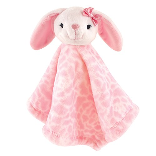 Hudson Baby Animal Friend Plushy Security Blanket, White Bunny