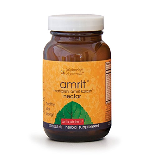 Amrit Kalash Nectar Tablets | 60 Herbal Tablets - 1000 mg ea. | Full-Spectrum Natural Antioxidant Herbal Supplement | Enhances Coordination of Mental Functions | Proven Chemotoxicity Support by Maharishi Ayurveda