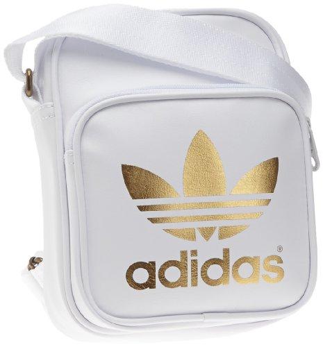bolso adidas blanco y dorano