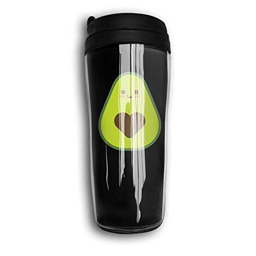 Water Bottles, Cute Avocado Black Decaf Mountain Outdoor Coffee Mug Carry Hand Cup Reusable Plastic Curve Travel Mug Coffee Tumbler For Women Men Kids Teens Adults Fathers Day Gifts