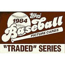 1984 Topps Traded Baseball Series Complete 132 Card Set in Original Factory Set Box. Contains Pete Rose and Tom Seaver, Plus Rookie Cards of Dwight Gooden and Bret Saberhagen Among ()