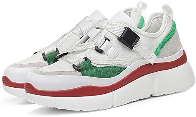 Telent Zapatillas Deportivas para Correr al Aire Libre, Modernas, Informales, de Calidad, para Mujer, Blanco (Blanco), 38 EU: Amazon.es: Zapatos y complementos
