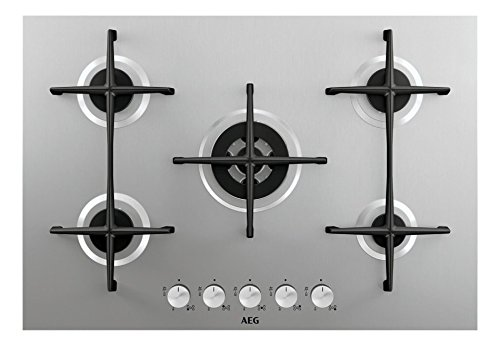AEG - Piano cottura a gas HG 755421 UM finitura inox da 75cm: Amazon ...
