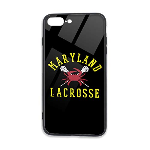 Maryland Crab Lacrosse,5.5 Inches Unisex Case for iPhone 7/7S/8/8S Plus TPU Glass Phone Case