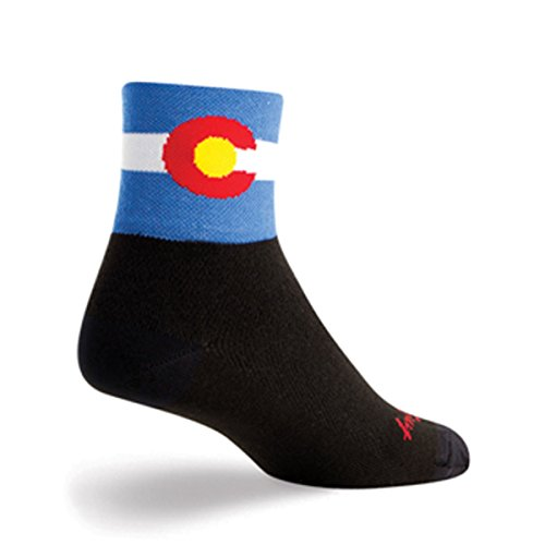 - SockGuy Classic 3in Colorado Flag Cycling/Running Socks (Colorado Flag - L/XL)