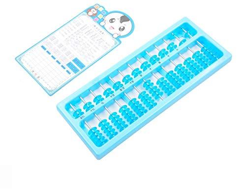 Easyflower Classic Counting Calculator 7 Cuentas 13 Archivos ábaco Intelectual del bebé ábaco plástico Transparente...