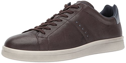 ECCO Men's Kallum Casual Fashion Sneaker, Coffee/Marine, 40 M EU / 6-6.5 D(M) US