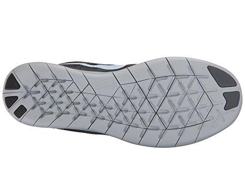 Nike Free Run Donne 2017 Nero / Idrogeno Blu / Grigio Scuro-lupo Scarpe Da Corsa Grigio