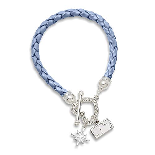 (MLB Seattle Mariners MLB LogoArt Seattle Mariners Devotion Charm and Crystal Heart Black Leatheret Size One Size)
