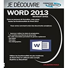 Apprendre Formation WORD 2013
