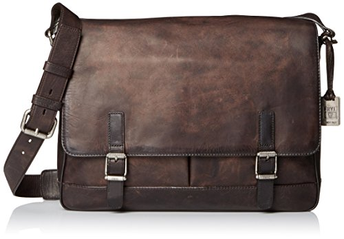 FRYE Men's Oliver Messenger, Smoke, One Size by FRYE