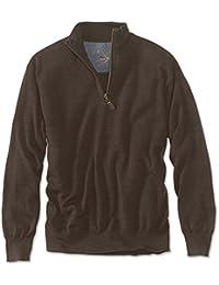 Men's Merino Wool Zipneck Sweater/Merino Wool Zip-neck...