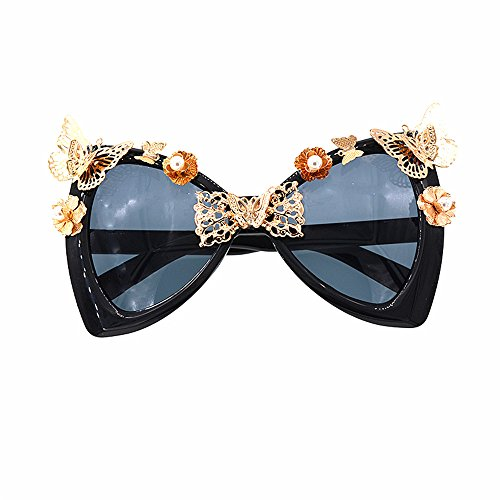 Fashion Baroque para Show Gafas disponibles de Butterfly Gafas de espejo Vintage Beach sol Lady's de sol Gafas de de Gafas sol Eyes Flowers Style Bowknot clásico Metal sol va Cat mujer Sunglasses en qXS1wZw4K