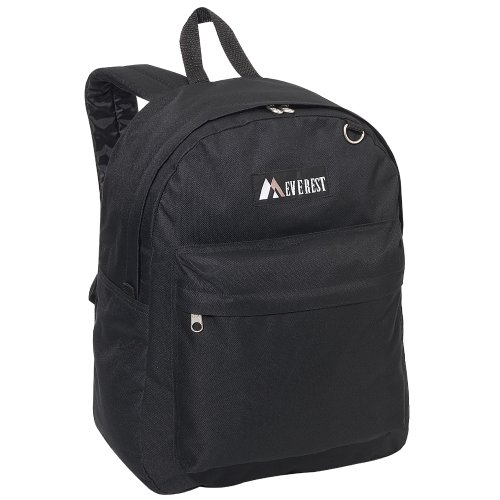 Everest Luggage Classic Backpack, Black, (Everest Bags Backpack)
