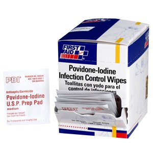 (Povidone-iodine Infection Control Wipe - 100 Per Box)