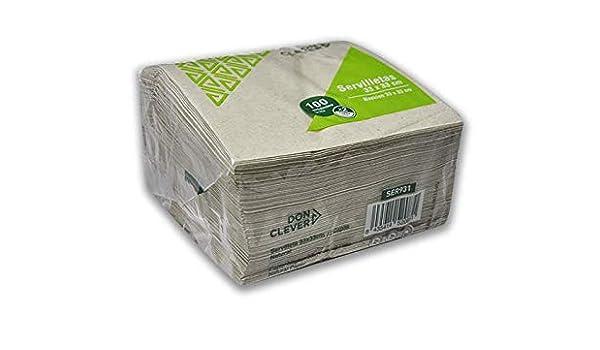 DON CLEVER SERVILLETA NATURAL ECO 33x33 cm - Caja de 30 paquetes de 100 servilletas (3.000 unidades): Amazon.es: Salud y cuidado personal