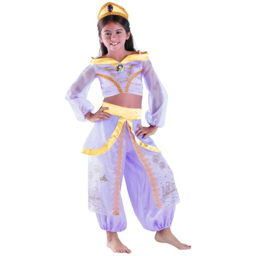 Disguise Girls Disney Aladdin Storybook Jasmine Prestige Costume,