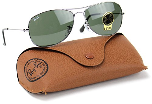 Ray-Ban RB3362 004 Cockpit Unisex Aviator Sunglasses Green Lens - Ban Ray 56mm Cockpit