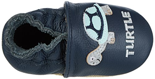 Rose & Chocolat Tiny Turtle - Zapatillas de casa Bebé-Niñas azul (navy)