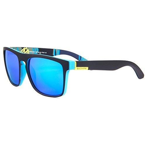 Unisex Retro Classic Polarized Sunglasses Square Vintage Matte Black Goggles (Black - Glasses Country Road Frames