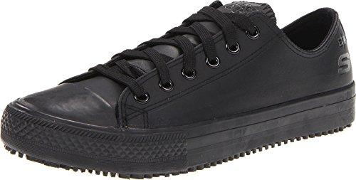 Skechers for Work Women's Gibson-Hardwood Slip-Resistant Sneaker,Black,8 M US