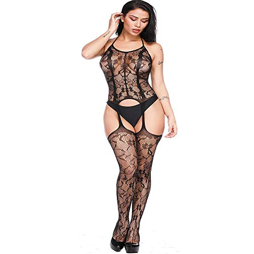 Dim Babydoll Open Coquine Black Babydoll Suspender Erotic Up Fishnet Trasparente Lingerie Angelof Sexy Woman Undercoated IqRqS