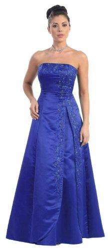 Bridesmaid Strapless Formal Dress #3708 (8, Royal (Alfred Angelo Formal Dress)