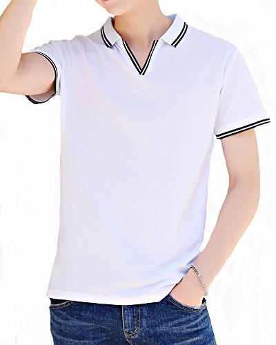 略す姓マイクロプロセッサITrustit ポロシャツ メンズ 半袖 通気性 薄手 吸汗速乾 半袖ポロシャツ poloシャツ ゴルフ シャツ ゴルフウェア シンプル 春夏季対応 トップス 823